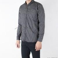 Baju kemeja flanel pria lengan panjang bahan flannel kotak slimfit HQ.
