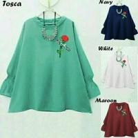 blouse songket/baju katun rayon/tunik batik/motif zipper gold/premium