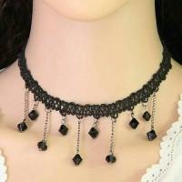 Jual KN44151 Kalung Tassel Black Pearl Murah