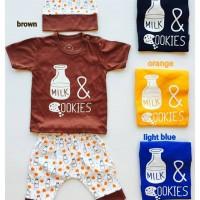 Jual Kaos 'Milk & Cookies' Murah