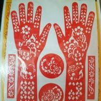 cetakan henna pacar tangan mal henna cetakan tatto henna rias tangan