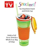 Jual snackeez 2 in 1 tumbler - as seen on tv Murah