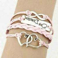 Jual KB34468 Gelang Multicharm One Direction Pink Murah