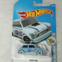 Hot Wheels Morris Mini 333 Sky Blue Mobil Mr Bean Moris Mini Cooper
