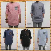 Jual Kurta Oxport Denim Songket By SARAWA Murah