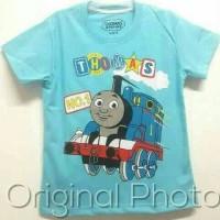 Kaos Anak Karakter Thomas Size 1-6/ Kaos Anak Laki Distro/ Thomas Blue