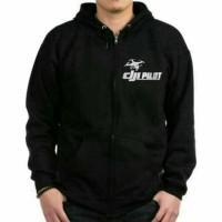 sweater/hoodie/zipper terlaris DJI DRONE PILOT termurah