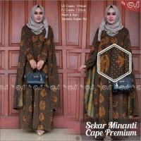 Jual Baju Batik Solo. Batik Ayusari. Cape Batik Sogan Series Murah