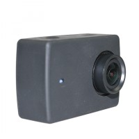 Jual Action Camera Silicone Case + Lens Cover for Xiaomi Yi 2 4K (HITAM) Murah
