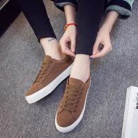 Jual Sepatu Kets Wanita/Pria | Sepatu Kuliah Kode DS 01 Cokelat Murah
