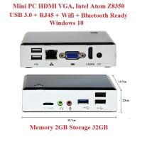 Mini PC HDMI VGA Intel Atom 2GB 2/32GB Win10 Wintel NUC MiniPC z8350