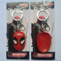 Jual Z HARGA PROMO Keychain Gantungan Kunci MARVEL Deadpool Face Avenger Murah