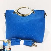 BTH008 Tas Fashion Import Wanita Biru