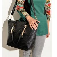 BTH0202 Tas Fashion Import Wanita Hitam