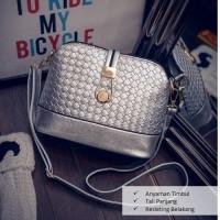 BTH016 Tas Fashion Import Wanita Silver