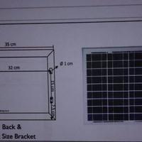Modul Solar Cell Panel Surya 10W 10WP 10Watt 10 W WP Watt peak