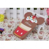 Cute Ice Cream Cartoon TPU Case for iPhone 5/5s/SE Brown