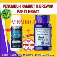 Jual Promo Kirkland Minoxidil 5 Biotin 10 000mcg PAKET HEMAT Berkualitas Murah
