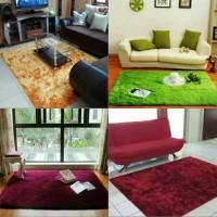karpet bulu rasfur ukuran 100x150 tebal keseluruhan 4cm