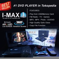 Promo DVD Portable Player i Max 3D LCD Rotate FM Radio TV Tuner Games