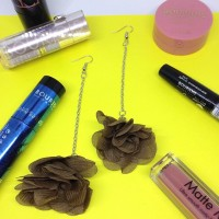 Jual Anting POMPOM Bunga Single / Anting Cantik / Anting Handmade Murah