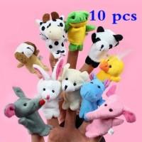Jual Set boneka jari hewan binatang mainan / Animal Finger Puppet Murah