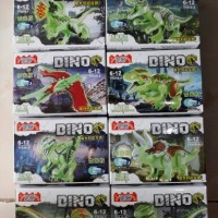 Jual Lego Kw Jurassic World Dino Set isi 8 Merk YG 77010 Glow In The Dark  Murah