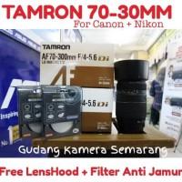 Lensa Tamron 70-300mm for Nikon/Canon (free lens hood+ UV filter)