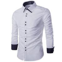 Jual Paling Laris Fonzi white  kemeja pria katun stretch putih Murah