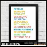 Jual BE BETTER BE YOUR SELF - Motivational Quote Poster - Hiasan Dinding Murah
