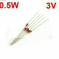 promo...!!! 5pcs diode dioda zener 3V 1/2 W 0.5 W