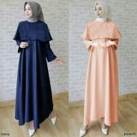 Jual Baju Muslim Dwina Cape Gamis Dress Busana Muslim  Murah