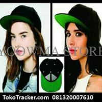 Jual MURAH topi snapback hitam based hijau polo Murah