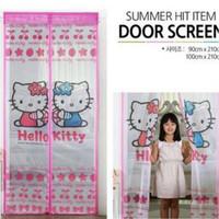 Tirai Sepasang Hello Kitty . Helo kity