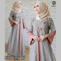 GAUN DRESS RINDY MAXI /busana muslim / gamis wolfis / gamis putih /