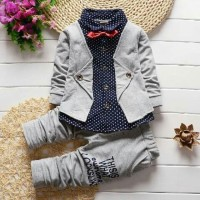 Harga termurah set kemeja rompi kid pakaian anak baju stelan anak | antitipu.com