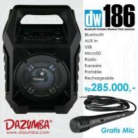 Jual Speaker Aktif Portable Bluetooth Karaoke and Radio Dazumba DW186 Murah