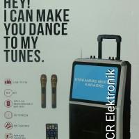 Jual Dusen Berg Portable Speaker Karaoke AL-2208 BLUETOOTH LED TV 15 Inch Murah