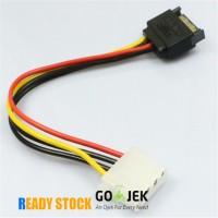 Kabel 15 Pin SATA Male to 4 Pin Molex Female IDE Konvertor Konektor
