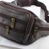 Jual PROMO - tas pinggang kulit ransel satu tali leather single strap bag b Murah