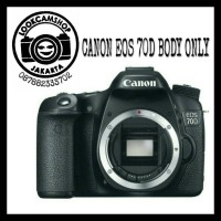 KAMERA DSLR CANON EOS 70D 70 D - BO ( BODY ONLY ) - WIFI