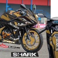 Decal Stiker New CBR150R SHARK Helmet GOLD
