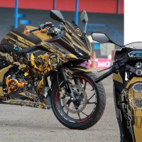 Decal Stiker New CBR150R Black Bumble bee Gold
