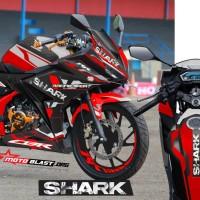 Decal Stiker New CBR150R Red Shark + stiker velg