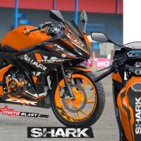 Decal Stiker New CBR150R Shark Orange