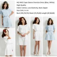 Jual  14612 Cape Sleeve Oversize Dress  Dress  KODE vc9994 Murah