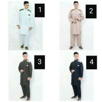 Set Gamis Pakaian Muslim Pria Setelan Baju Celana Cowok Laki Cordova