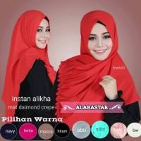 Jilbab Paling Laku instagram INSTAN ALIKHA kerudung simple