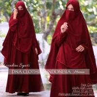 Murah Azzahra Syar'i Gamis Setelan Khimar Plus Niqab Original DNA