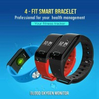 Jual Smart Watch 4-Fit Heart Rate Blood Xiaomi Mi Band 2 Killer ( Mi A1 ) Murah